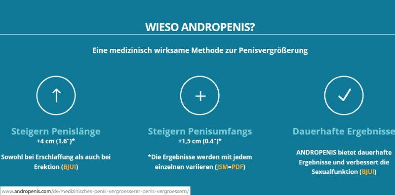 Unsere Erfahrungen mit Androextender/Andropenis - Versprechen des Herstellers.