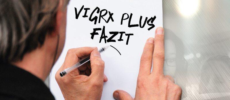 VigRX-Erfahrung: Fazit zum Test.