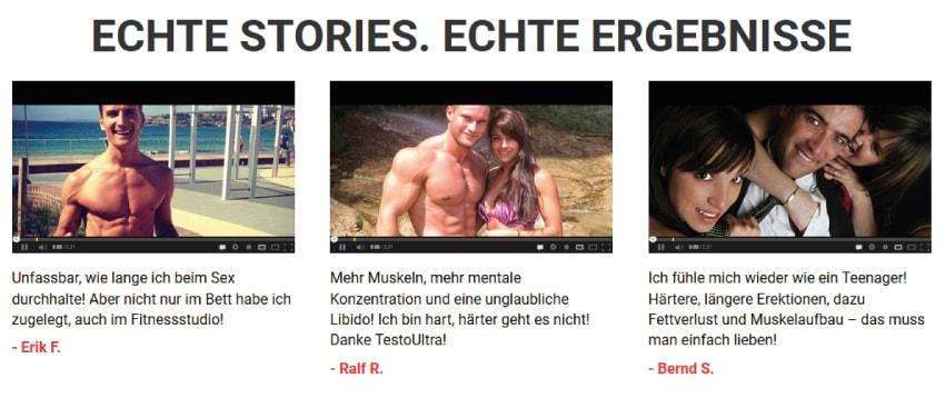 Angebliche echte Stories von Anwendern.