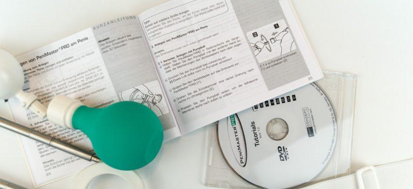 Anleitung und DVD zur richtigen Penimaster Anwendung.