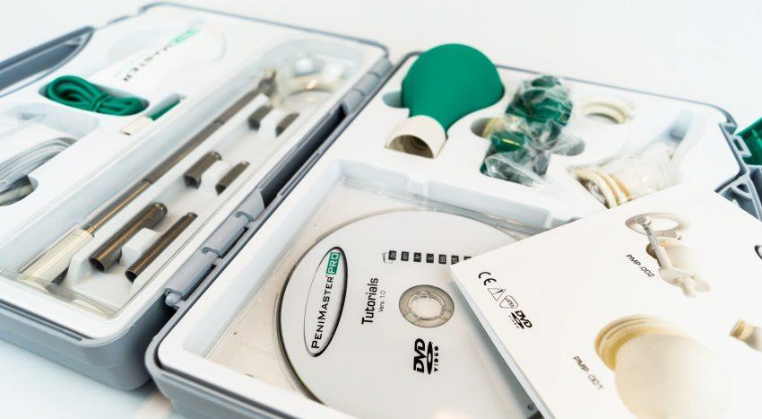 Wer den Penimaster Pro kaufen will, erhält das Komplettsystem mit Gurt- & Stangen-Expander.