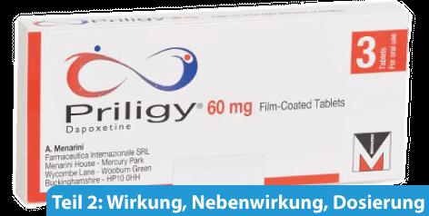 Priligy Nebenwirkungen, Wirkung und Dosierung.